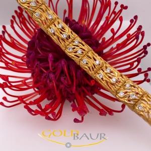 Armband,Brillant-Armband,Handarbeit,750/Gelbgold