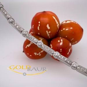 Armband, Brillant-Armband, beweglich, 750/Weißgold, Handarbeit