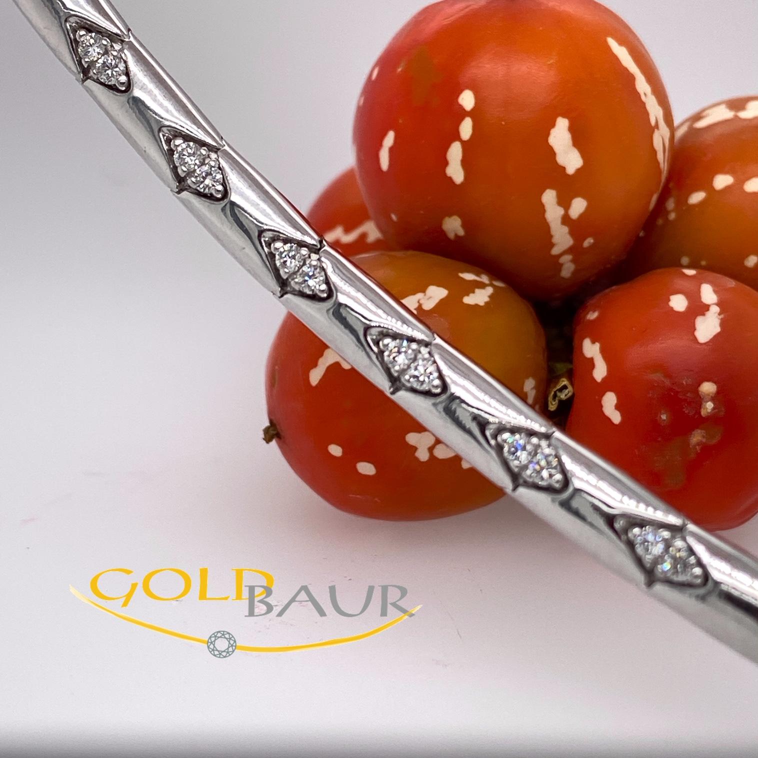 Armband, Brillant-Armband, beweglich,750/Weißgold, Handarbeit