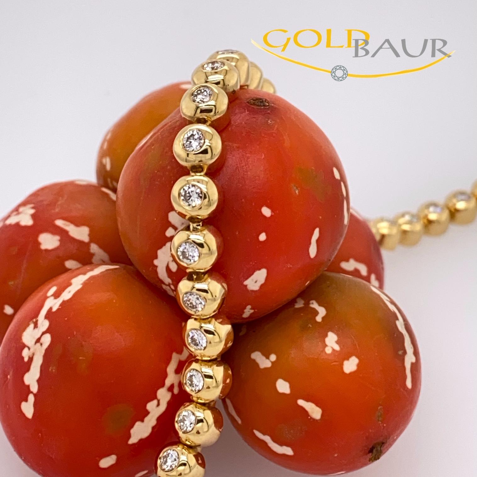Armband, Brillant-Armband, 750/Gelbgold, Handarbeit, Gold