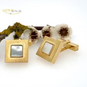 Manschettenknöpfe, Gelbgold, Permutt, handarbeit
